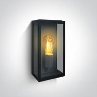 67406A/B BLACK WALL LIGHT 40W E27 IP43