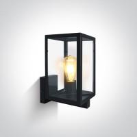 67406C/B BLACK WALL LIGHT 40W E27 IP43