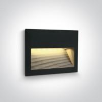 68016/B/W BLACK WALL RECESSED LED 2W WW IP54