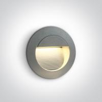 68022/G/W GREY WALL RECESSED LED WW IP54