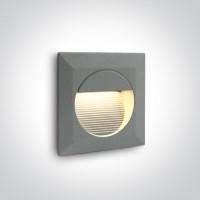 68024/G/W GREY WALL RECESSED LED WW IP54 230V