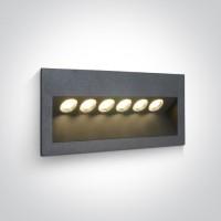 68050/AN/W ANTHRACITE IP65 LED 6x1w WW 100-240V