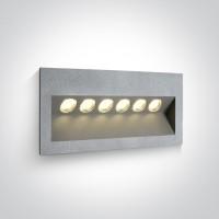 68050/G/W GREY IP65 LED 6x1w WW 100-240V