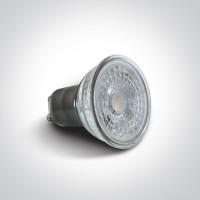 7301G/W LED 5w COB GU10 WW GLASS 230V
