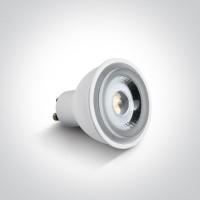 7306CG/W WHITE COB LED 6W WW GU10 60deg 230v