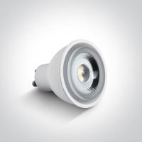 7306CGD/C WHITE COB LED 6W CW GU10 60deg DIMMABLE 230V