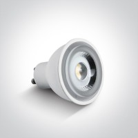 7306CGD/EW WHITE COB LED 6W EWW GU10 60deg DIMMABLE 230V