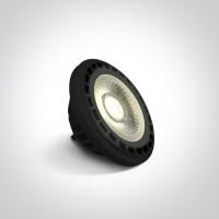 7315GB/C/45 BLACK LED R111 GU10 13w CW 45deg 230v