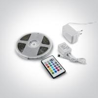 7820A/RGB SET RGB 5m + REMOTE 2w/m/colour IP20 24V / 230V