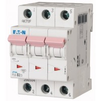 Miniature circuit breaker PL6, 3P, 2 A, 6 kA, C