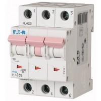 Miniature circuit breaker PL7, 3P, 4 A, 10 kA, B