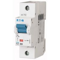 Miniature circuit breaker PLHT, 1P, 20 A, 25 kA, C