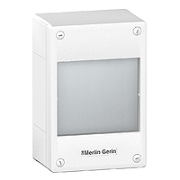 Surface enclosure, Titanium white/Metal grey, 1 x 18