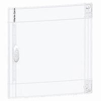Transparent door Flush/Surface mounting 1 x 18, Crystal