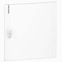 Opaque door Flush/Surface mounting, Titanium white 2 x 18
