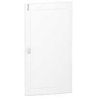 Opaque door Flush/Surface mounting, Titanium white 6 x 24