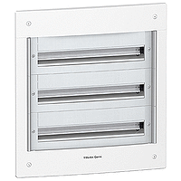 Flush enclosure, Titanium white/Metal grey, 3 x 24
