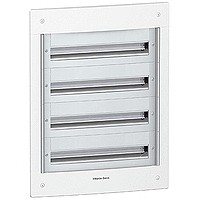 Flush enclosure, Titanium white/Metal grey, 4 x 24
