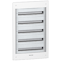 Flush enclosure, Titanium white/Metal grey, 5 x 24