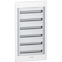 Flush enclosure, Titanium white/Metal grey, 6 x 24