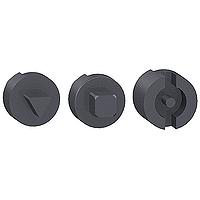 Lock male 7mm triangle, square, 3mm double bar  modules