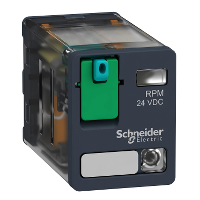 Power relay RPM 2 C/O 24 V DC 15 A with LED