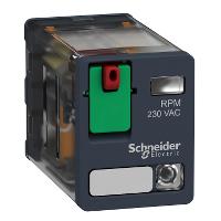 Power relay RPM 2 C/O 230 V AC 15 A with LED