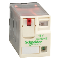 Miniature Plug-in relay RXM 3 C/O 48 V AC 10 A