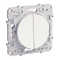 Lightable Switch 10 AX double, two-way, White