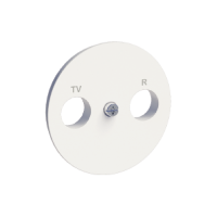 TV/R center plate, White