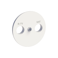 R-TV/SAT center plate, White