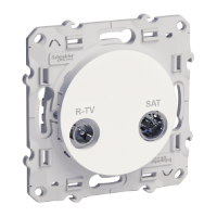 R-TV/SAT socket, terminal, White