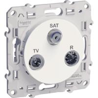 TV/SAT/R socket, single, 2 input, White