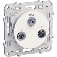 TV/SAT/R socket, single, White