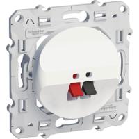 Loudspeaker socket, White
