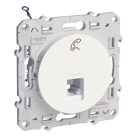 RJ12 6 contacts, White