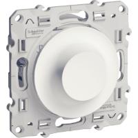 Rotary dimmer 40-600 VA, two-way switch, White