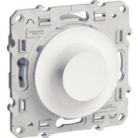 Rotary dimmer 4-400 VA, two-way switch, White