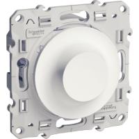 Rotary dimmer 9-100 VA, two-way switch, White