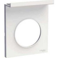 Cover frame with Accessory mobile Odace Styl, White, 1 Gang