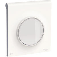 Cover frame with IP44 cover with a flexible transparent protection cap  Odace Styl, White, 1 Gang