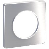 Cover frame Odace Touch, Metal brushed aluminium, 1 Gang