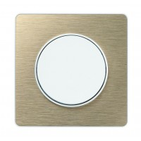 Cover frame Odace Touch, Metal brushed bronze, 1 Gang