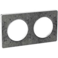 Cover frame Odace Touch, Stone sea, 2 Gang