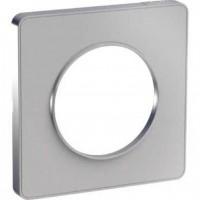 Cover frame Odace Touch Aluminium, Painted aluminium, 1 Gang