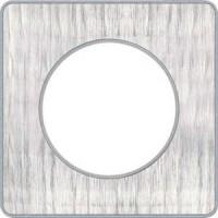 Cover frame Odace Touch Aluminium, Aluminium brushed croco, 1 Gang