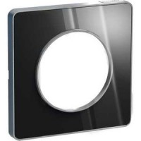 Cover frame Odace Touch Aluminium, Aluminium glossy fume, 1 Gang