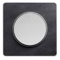 Cover frame Odace Touch Aluminium, Stone ardoise, 1 Gang
