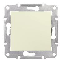 2-pole Switch 10 AX - 250 V AC, Beige