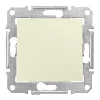 2-pole Switch IP44 10 AX - 250 V AC, Beige